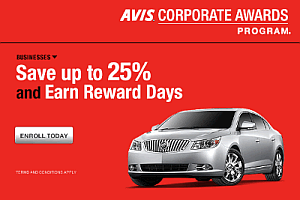 Your business can have its own Avis AWD number for car rental discounts and free rental days.