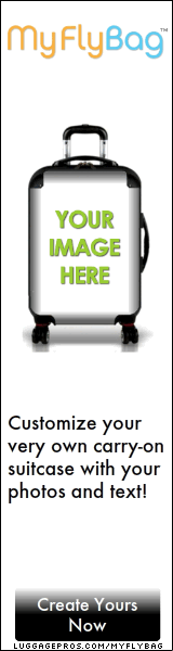 Luggage Pros MyFly Bag Personalize your carryon luggage with images and text.