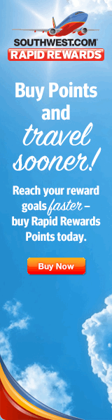 Buy Southwest Rapid Rewards points and get an award flight sooner.